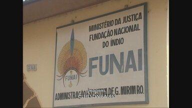 Indígenas mantém a ocupação da sede da Funai em Guajará-Mirim - Indígenas mantém a ocupação da sede da Funai em Guajará. Os manifestantes querem a presença do presidente da Fundação Nacional do Índio no município.