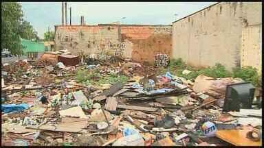 Moradores reclamam de sujeira em rua da zona norte de Ribeirão Preto, SP - Coordenadoria de Limpeza Urbana está realizando uma vistoria no local e irá programar os serviços necessários o mais rápido possível.