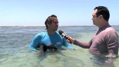 Interdição da Piscina do Amor na Pajuçara, ajuda no desenvolvimento da vida marinha - Coordenador de Gerenciamento Costeiro do IMA/AL, Ricardo César, fala sobre o trabalho de desenvolvimento da região.