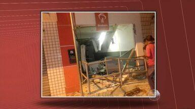 Agências bancárias são explodidas no interior da Bahia - Um dos casos aconteceu na cidade de Biritinga, no nordeste do estado.
