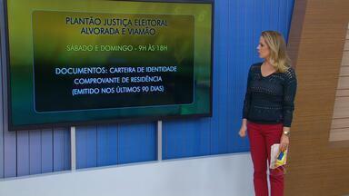 Justiça eleitoral de Alvorada e Viamão faz plantão para revisão do eleitorado no RS - Plantão também fará cadastramento biométrico.