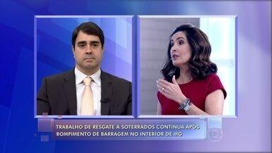 Especialista explica possível causa de acidente em Bento Rodrigues - Trabalho de resgate a soterrados continua no interior