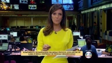 Monalisa Perrone traz novidades sobre a tragédia em Minas Gerais - Lama deve escorrer pelos próximos cinco dias