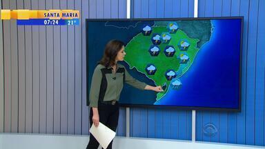 Tempo: terça-feira (10) será de chuva em todas as regiões do RS - Temperaturas caem com a chegada da chuva no estado.