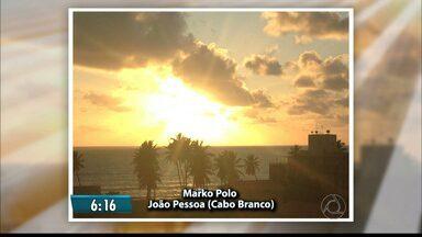 Veja as fotos do amanhecer na Paraíba - Telespectadores mostram o nascer do sol em várias regiões do Estado.