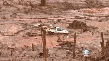 Cerca de 800 moradores de Bento Rodrigues estão sem casa e vivendo de doações - Dos 26 desaparecidos, um foi encontrado, neste domingo (8), na lama que desceu das barragens.