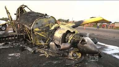 Técnicos são esperados em Balsas para iniciar investigações do acidente com avião - A aeronave caiu ontem à tarde, logo após a decolagem no aeroporto da cidade.