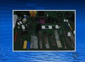 PM realiza revista em cadeia pública de Garanhuns - Um total de 31 armas artesanais foram encontradas.