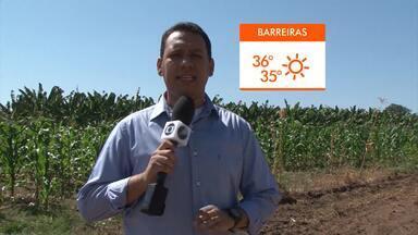 Veja a previsão do tempo para Barreiras para esta semana - População da região oeste tem sofrido com a estiagem e a baixa umidade do ar.