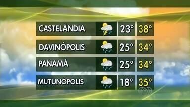 Confira a previsão do tempo para todo o estado de Goiás - Em Castelândia, no sudoeste do estado, a previsão é de temperaturas entre 23°C e 38°C