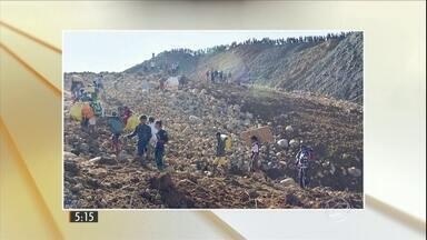 Mais de 100 pessoas morrem em deslizamento de terra em Mianmar - Acidente foi de madrugada numa mina de jade no norte do país. Testemunhas contam que coluna de terra despencou sobre cabana onde mineiros dormiam. Jovem israelense é morta por palestino na Cisjordânia.
