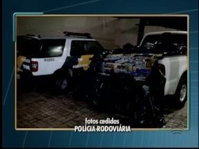 Dupla é presa com mais de uma tonelada de maconha em Santa Mercedes - Homem tentou esconder veículo em pátio de motel, mas foi localizado.
