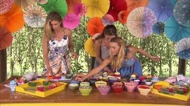 Grazi Massafera, Paolla Oliveira e Carol Dieckmann fazem surpresa para Angélica - Amigas preparam cupcakes em comemoração ao aniversário da apresentadora