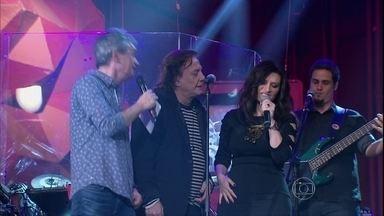 Fábio Jr. canta com Laura Pausini e Serginho Groisman - Cantor se apresenta com o hit 'Alma Gêmea'
