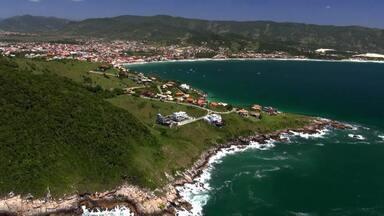 'Telão do Domingão' homenageia o litoral de Santa Catarina - Confira!