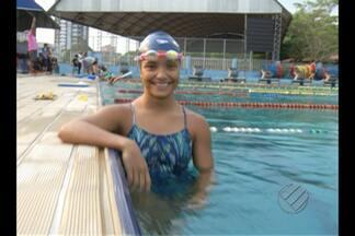 Nadadora Ana Sofia comemora única medalha de ouro do Pará nos Jogos Escolares - Atleta foi a única paraense a conquistar primeira colocação na competição nacional.