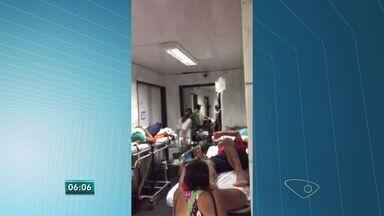 Sindicato denuncia superlotação no Hospital São Lucas, em Vitória - Segundo o Sindisaude, 85 pacientes são atendidos no corredor. Cinco leitos foram fechados no hospital.