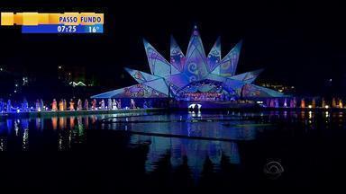 Gramado espera receber cerca de dois milhões de visitantes para o Natal Luz na Serra do RS - Espetáculos foram reformulados para a edição de 2015.