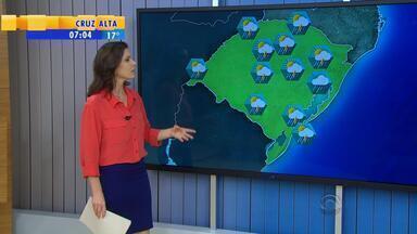 Tempo: pancadas de chuva devem ser mais fortes na fronteira do RS com a Argentina - Nas demais regiões, também chove ao longo desta quinta-feira (3).