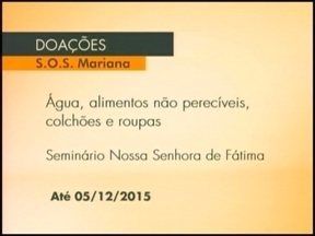 Grupo de Erechinenses se mobiliza por atingidos na tragédia de Mariana, MG - As doações podem ser feitas no Seminário Nossa Senhora de Fátima.