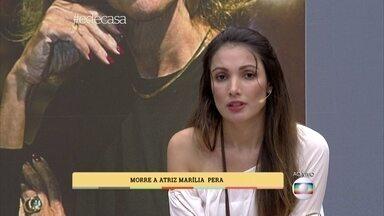 Morre a atriz Marília Pêra - Patrícia Poeta interrompe o programa para anunciar a morte da atriz