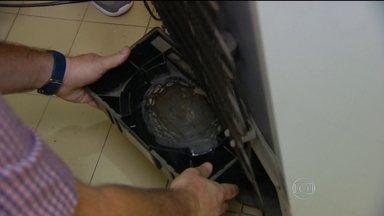 Maioria dos focos do Aedes aegypti está nas casas - Mosquito pode encontrar abrigo onde menos se espera, até mesmo na geladeira.