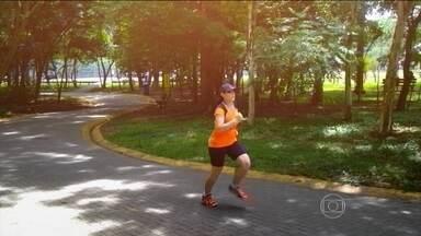Neurocientista experimenta esportes diferentes na luta contra a balança - Carla Tieppo pretende chegar ao fim do ano com 8 Kg a menos, controlando as tentações.