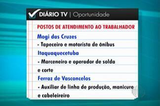 Confira as vagas de emprego disponíveis nos PATs do Alto Tietê - Há vagas disponíveis em Mogi das Cruzes, Itaquaquecetuba e Ferraz de Vasconcelos.