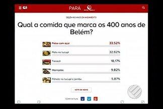 Em votação popular, paraenses elegem pratos que representam a culinária do Pará - Votação pode ser feita através de aplicativo ou pelo site até esta terça-feira (8)