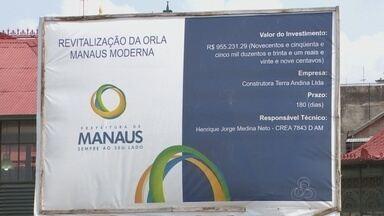 Entrega de obras na 'Manaus Moderna' deveria ocorrer em julho - Obras estão atrasadas no centro da capital.
