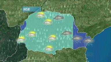 Pra variar... tem previsão de chuva em Londrina e região - Confira o nosso mapa.