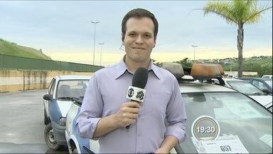 São José vai leiloar automóveis neste sábado - Nesta sexta veículos vão estar à mostra.
