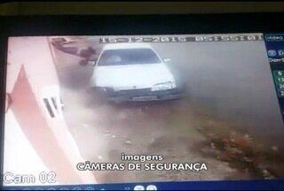 Vídeo flagra mulher sendo atropleada em Bocaiuva - Motorista perdeu o controle da direção ao passar por um quebra-molas.