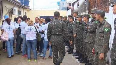 Reforço do Exército chega a Jaboatão para ajudar no combate à dengue - Município teve quase 7.500 notificações de dengue e 439 confirmações.