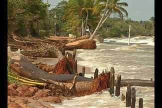 A praia do Maraú, em Mosqueiro, sofre com a erosão - A agência distrital de Mosqueiro informou que uma reunião será realizada para tratar do problema de erosão na ilha.