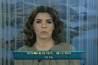 Chuvas de dezembro fazem com que aumente o nível do Sistema Alto Tietê - Os reservatórios operam em 23,1%.