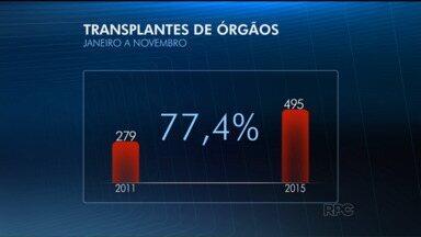 Paraná registra o maior número de transplantes de órgãos em 20 anos - Até novembro, foram 495 órgãos transplantados no estado.