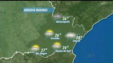 Pode chover no litoral do Paraná nesta terça-feira - Terça-feira começa com chuva, mas também há previsão de muito calor e sol durante a tarde.