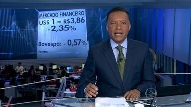 Dólar fecha em baixa nesta segunda-feira (28) - A moeda americana terminou o dia em queda, valendo R$ 3,86. Já a bolsa de valores, fechou em queda de quase 1%.