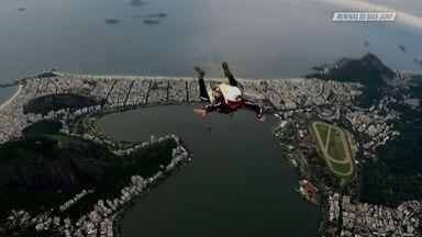 Salto Do Helicóptero Sobre O Cristo Redentor - RJ
