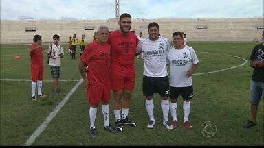 Confira como foi o jogo entre Hulk e Pezão no Estádio Amigão - Jogo reuniu os amigos do lutador Pezão e os amigos do jogador Hulk.