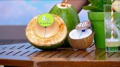 Polpa do coco verde tem menos gordura - O pesquisador da Embrapa Fernando Abreu explica que, com o processo de maturação, o coco transforma a água em gordura.