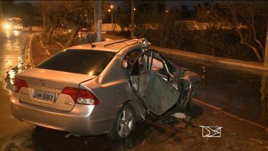 Acidente grave deixa um ferido em São Luís - O acidente foi na Avenida dos Franceses, na capital.