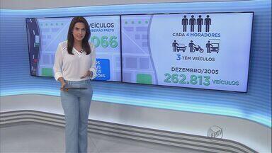 Frota de Ribeirão Preto cresce 90% em dez anos, diz Denatran - Cidade tem hoje 498.066 carros, motos, caminhões e ônibus, o que significa que de cada quatro moradores, três têm algum tipo de veículo.