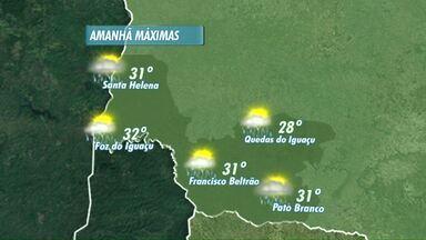 a terça-feira será quente com chance de pancadas de chuva - Termômetros passam dos 30 graus.