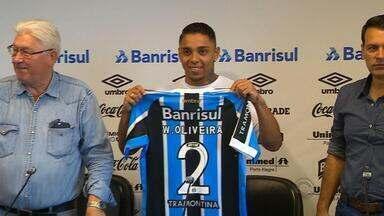 Lateral-direito Wallace é o novo reforço do Grêmio - Assista ao vídeo.