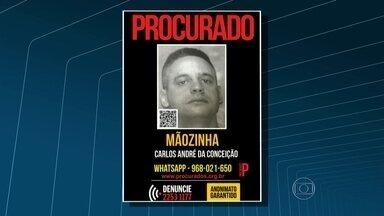 Homem suspeito de matar PM é procurado pela polícia - O Disque Denúncia divulgou o cartaz de Carlos André da Conceição, conhecido como o 'mãozinha'.