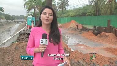 Trecho da Av. Eduardo Girão é interditado por conta de obras - 80 metros de tubulação serão substituídos.