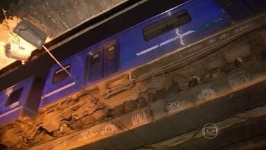 Dois trens saíram dos trilhos - A volta para casa foi difícil por causa dos acidentes