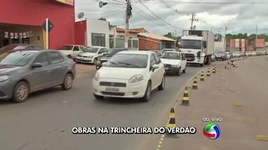 Trincheira do Verdão, em Cuiabá, está parcialmente interditada para reparos - Trincheira do Verdão, em Cuiabá, está parcialmente interditada para reparos